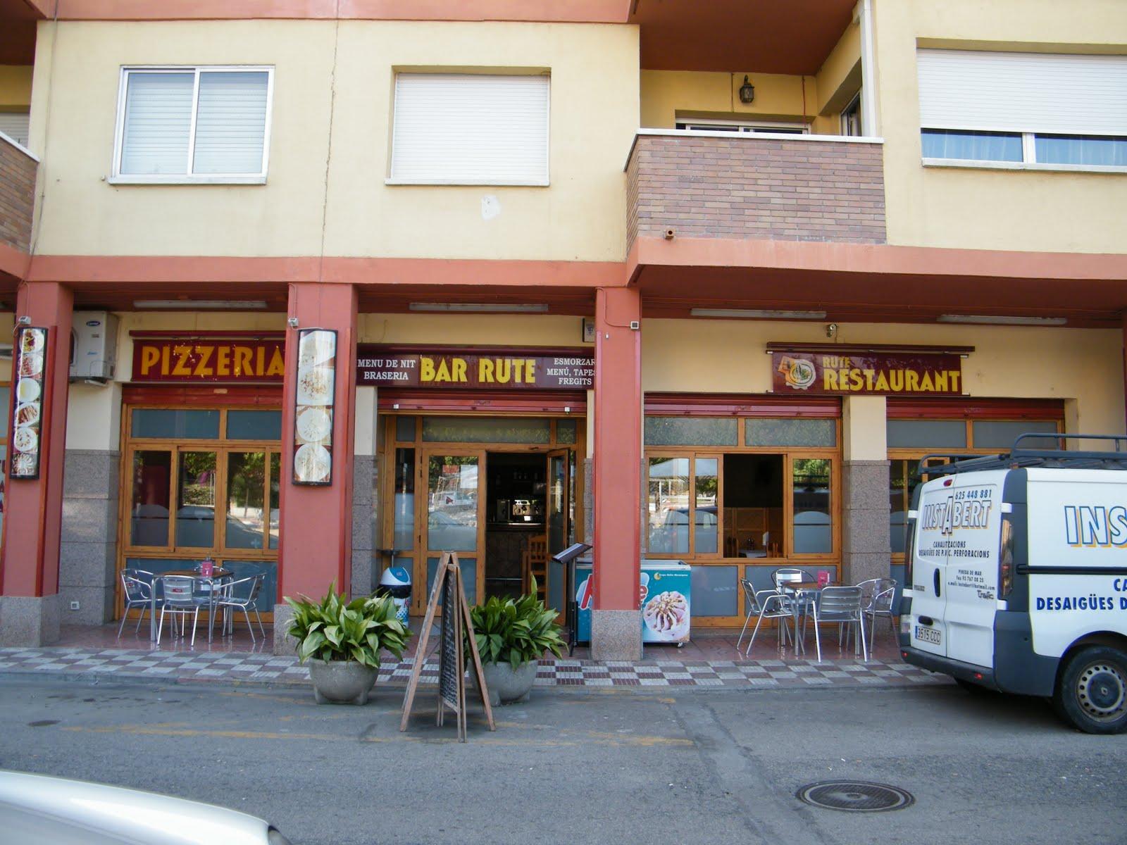Los almuerzos almuerzo en el bar restaurante rute for Restaurant pineda de mar
