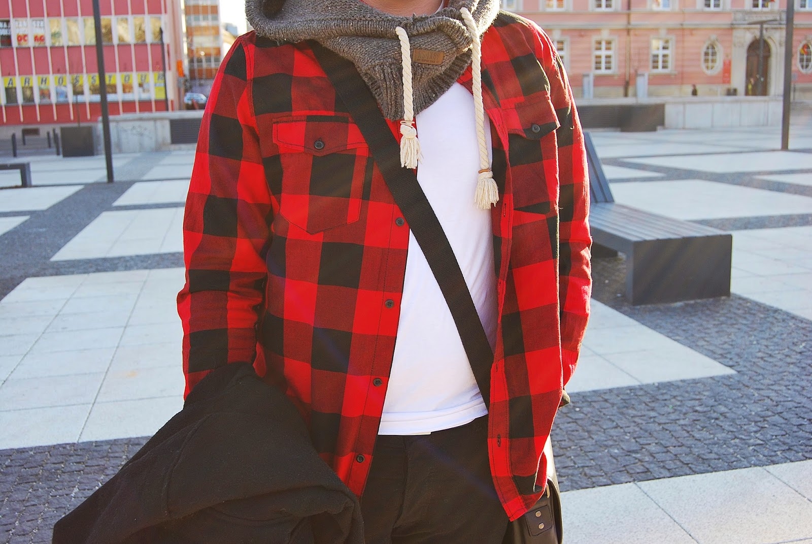outfit #twenty six – BLACK RED WHITE CHECK FOR MEN