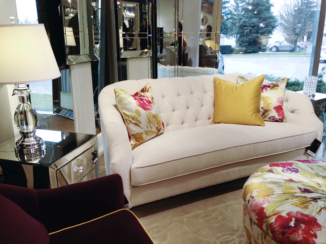 Love The Tufted Back And Gently Sloped Arms On This Sofa