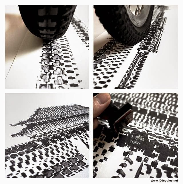 Tire Printed Posters by 100Copies
