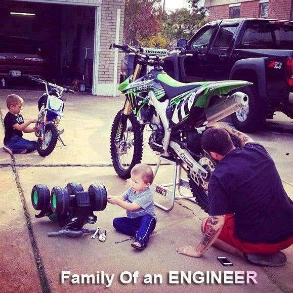 Family of an Engineer, Son always wants to become what his father is?