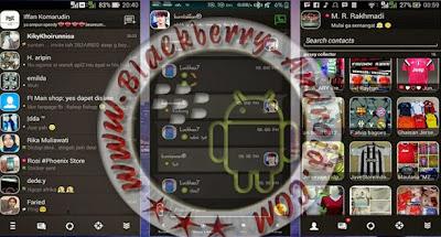 Ubdate BBM Mod Tema Black Revolution Versi Terbaru 2.8.0.21