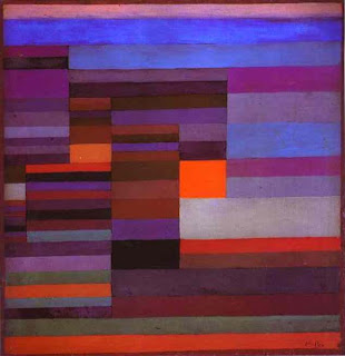 Paul Klee painting - Fire in the Evening