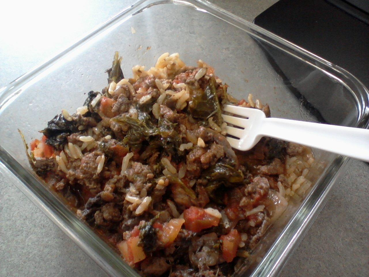 ... Beef, Kale, and Caramelized Onions with Victoria Gourmet Seasoning