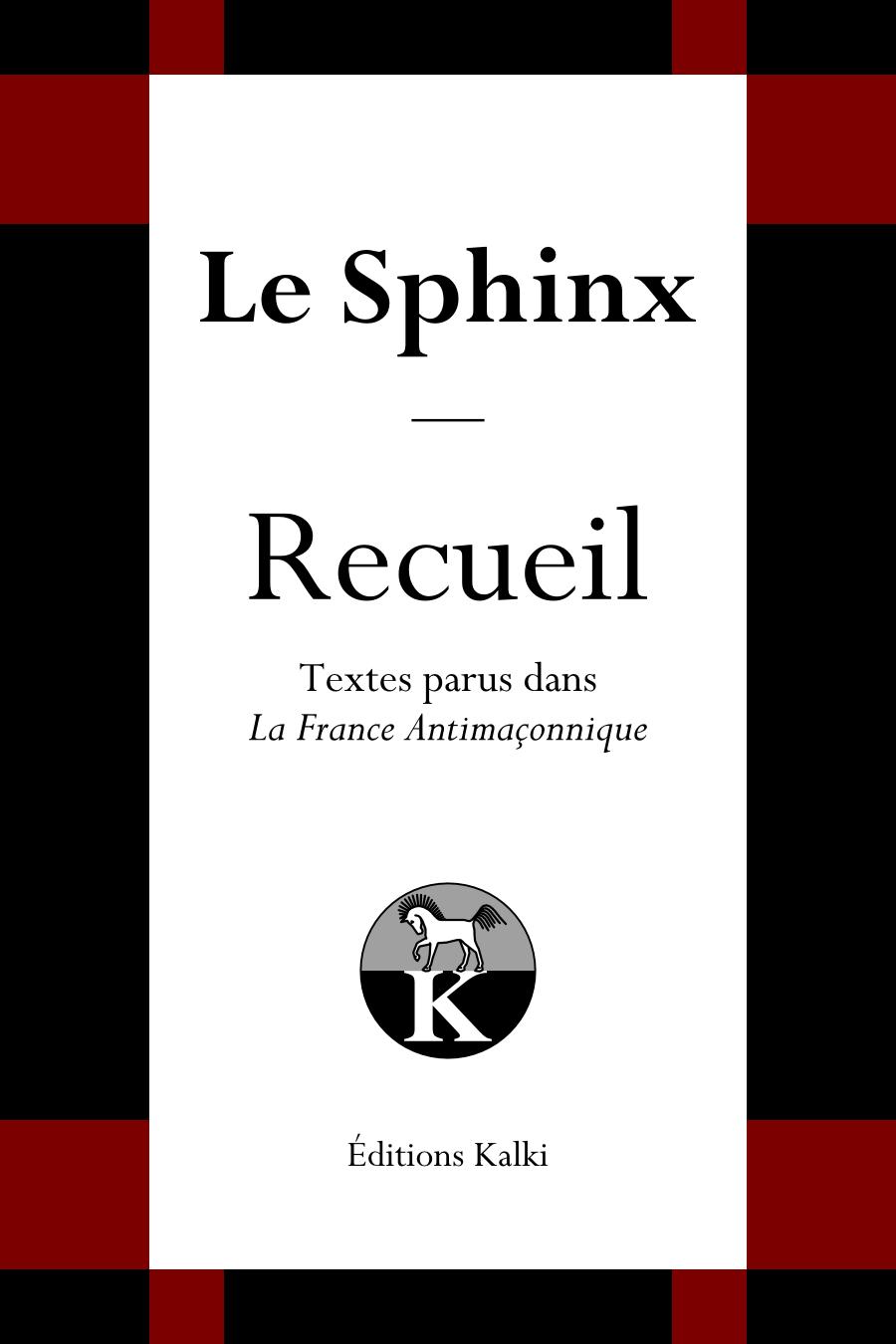 Nouvelle publication : Le Sphinx - Recueil