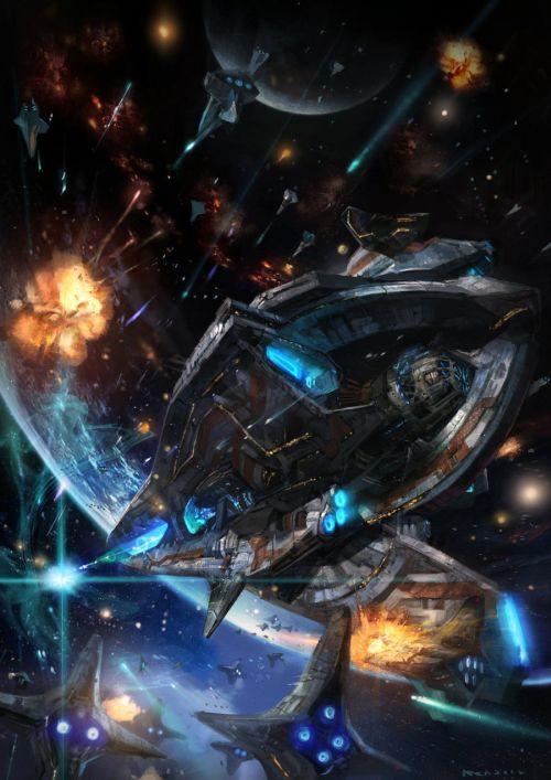 HongWen xaeroaaa deviantart ilustrações fantasia ficção científica Dispare a vontade