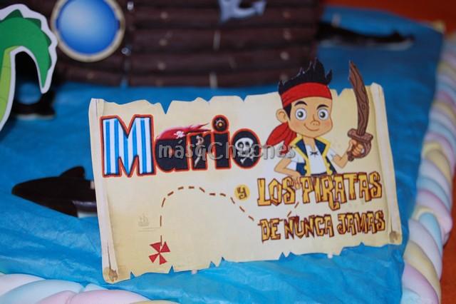 Tarta Barco Jake Y Los Piratas De Nunca Jam  S  Ref     069
