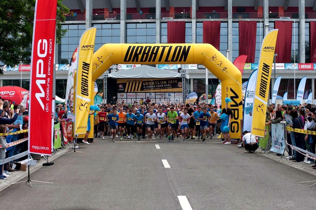 Invitaţie la URBATLON, 20 iunie 2015, Arena Nationala, Bucureşti. Alergare cu obstacole. Start