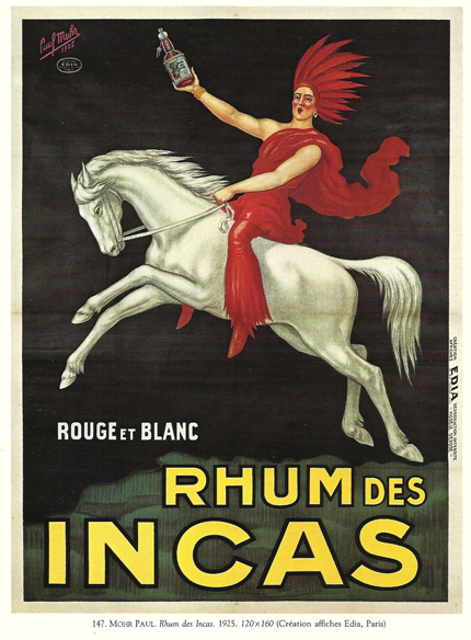 advertising, classic posters, food, free download, free printable, french poster, graphic design, printables, retro prints, vintage, vintage posters, vintage printables, Rhum des Incas, Rouge et Blanc - Vintage Food Drinks Alcohol Printable Poster