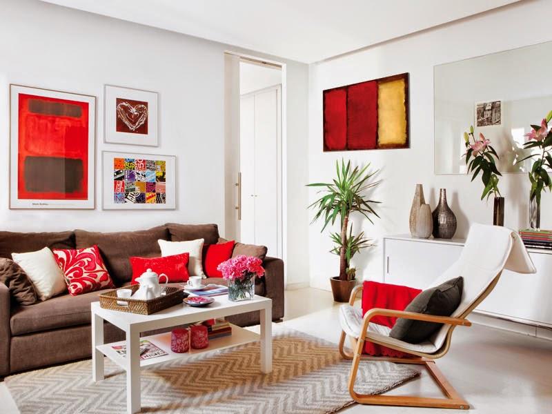 Muebles x muebles decorar la sala en color rojo for Decoracion piso rojo