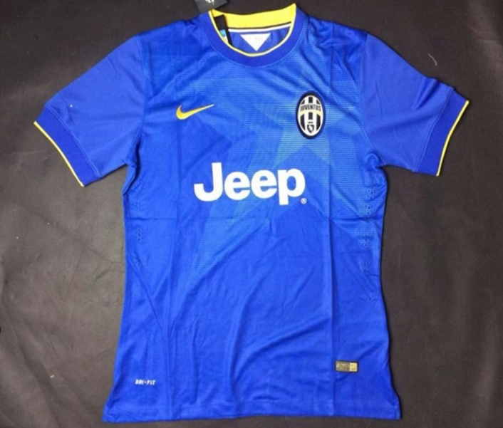 Thailand Quality Juventus 14-15 Away Blue Soccer Jersey(Player)