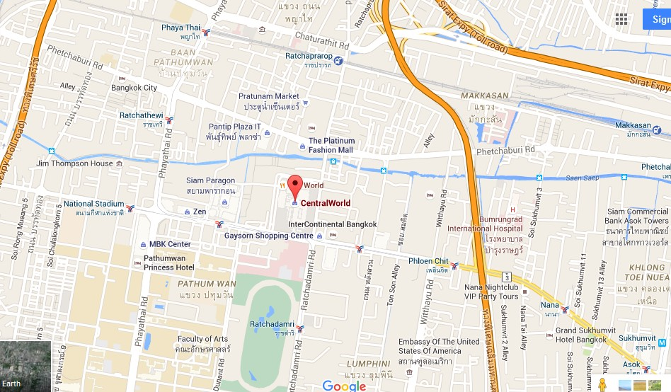 Central World Plaza Bangkok Map Tourist Attractions in Bangkok – Thailand Tourist Attractions Map