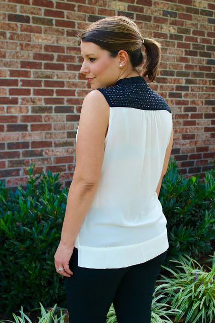 Black & White Alfani Top Work Outfit The Peacock Roost