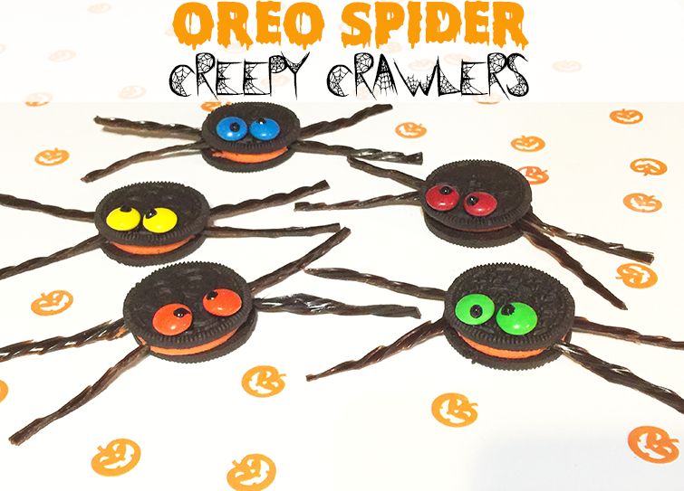 halloween oreo spider creepy crawlers recipe