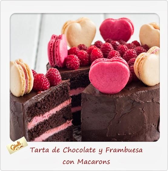 Tarta De Chocolate Y Frambuesa Con Macarons