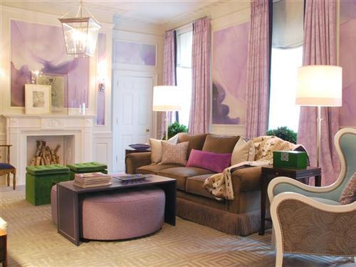 Aesthetic oiseau lavender dream living room for Lilac living room walls