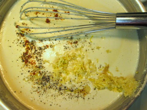add spices and garlic to beer cheese