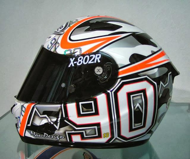 racing helmets garage x lite x 802r m para 2013 by mau design. Black Bedroom Furniture Sets. Home Design Ideas