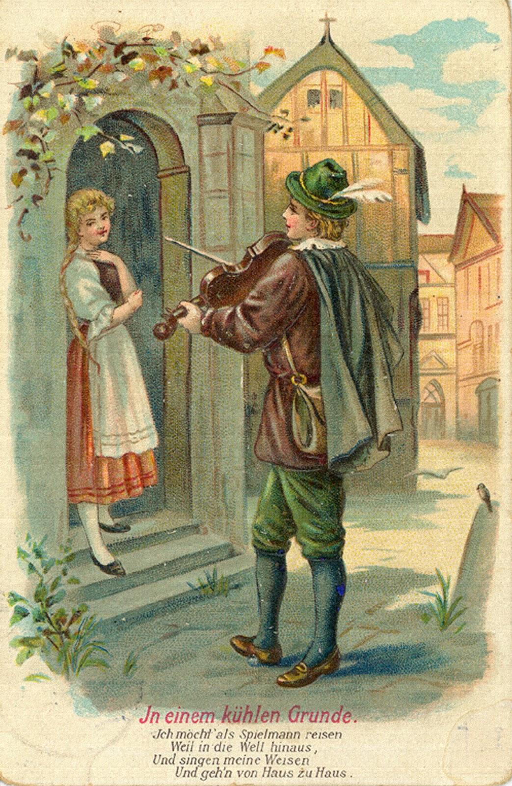 Любовь и флирт на старинных открытках