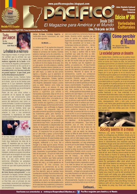 Revista Pacifico Nº 386 Variedades Culturales