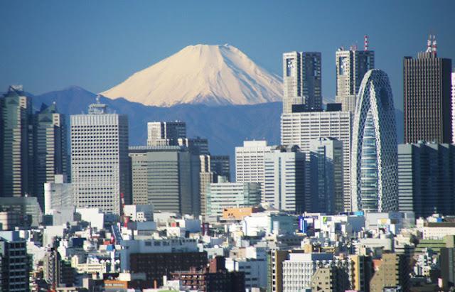 Skyline de Shinjuku con el Fuji al fondo