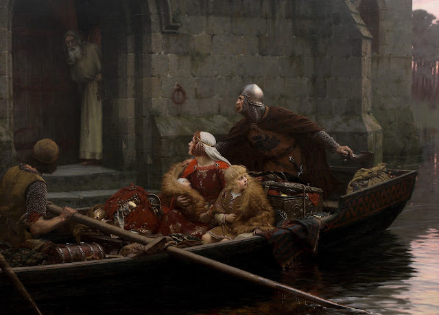 Edmund Blair Leighton,peril,family