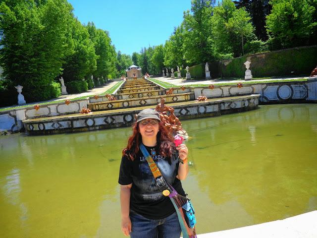 La Granja de San Idelfonso y su traveller :)