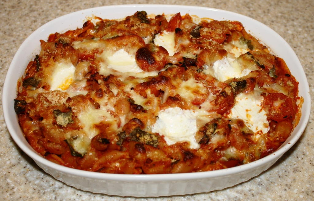 ... baked orzo with eggplant and mozzarella baked shells with tomato and