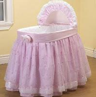 bassinet bedding pink