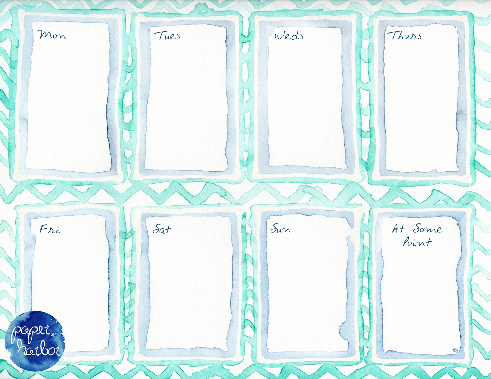 Printable Weekly Planners Cute Weekly Planner Printable