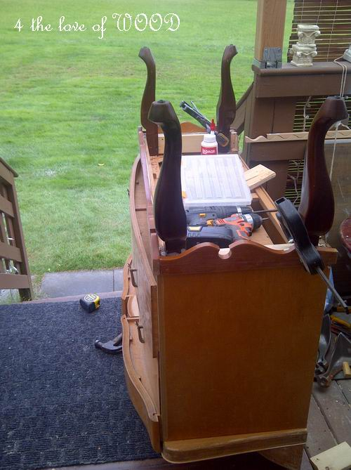 Charmant Measuring, Cutting, Gluing, Clamping And Screwing Are All Needed. When  Altering Or Adding To Vintage Furniture.