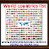 World countries list