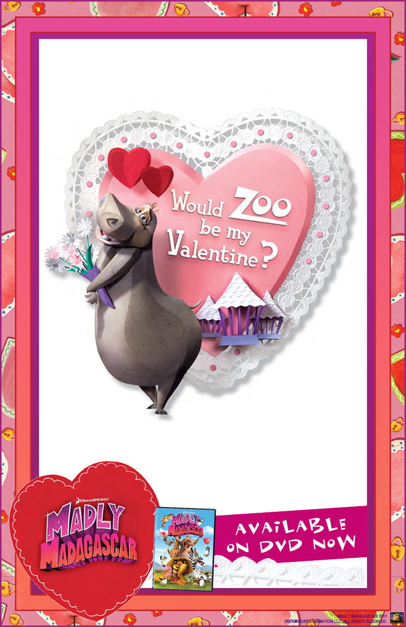 free madly madagascar valentines day e cards