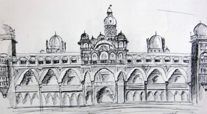 Mysore palace sketches