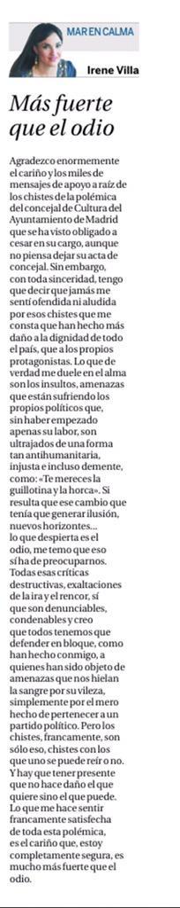 Irene Villa critica los insultos a concejales de Ahora Madrid por los tuits de Zapata 000000%2B9
