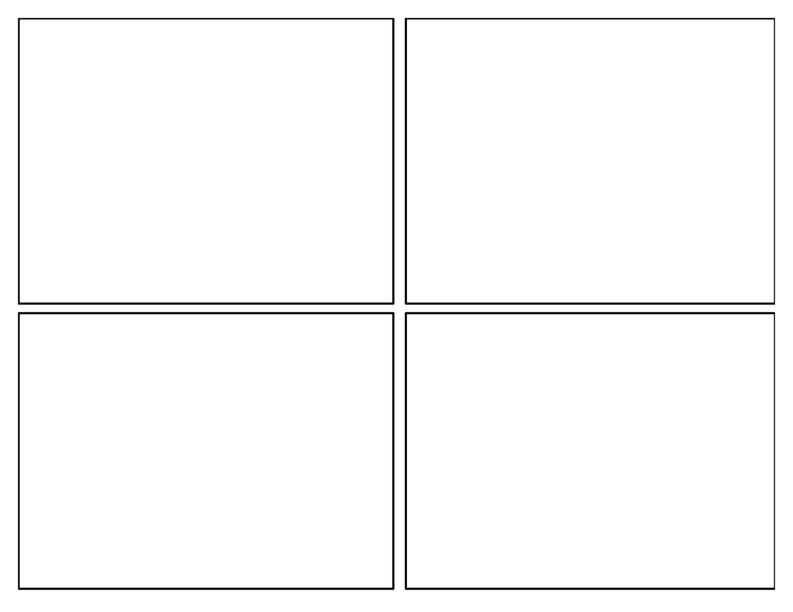 3rd grade first batch of comic templates for 4 sq