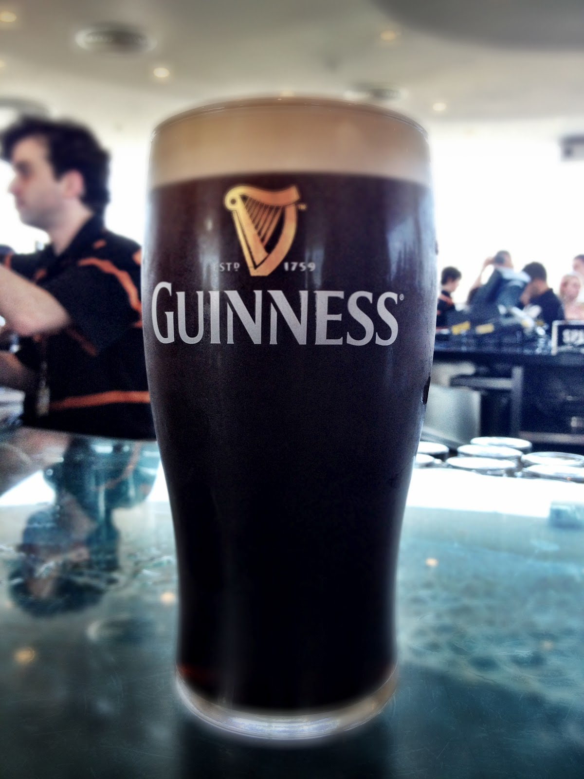 A pint of Guinness from the Gravity Bar, in the Guinness Storehouse, Dublin
