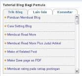 Membuat Menu tab view Pada Blog