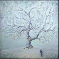Иван КРУТОЯРОВ. Просто наступила зима. Импрессионизм, пейзаж,  жанровая картина, зима, одинокое дерево, снег, одинокий человек, уходящий человек, поиск себя, одиночество, грусть, печаль, душа, русская душа, символизм, тайна, секрет, художник, ностальгия, воспоминания, расставание, прощание, смысл жизни, современная живопись.