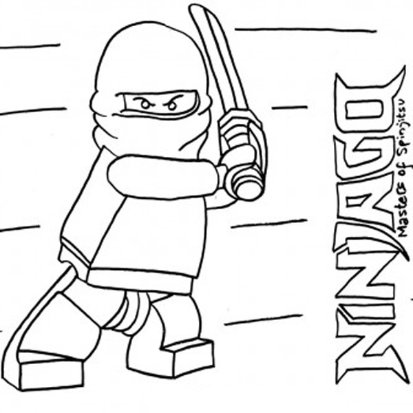 Coloring Pages of LEGO Ninjago title=