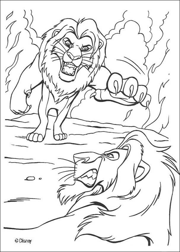 Vistoso Página Gratis León Imprimible Para Colorear Páginas Para ...