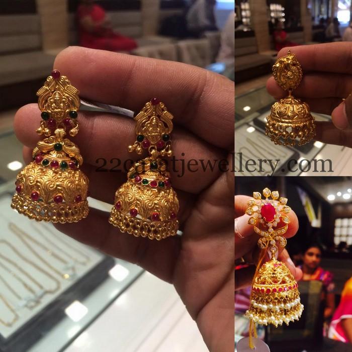 20grams Gold Jhumkas - Jewellery Designs