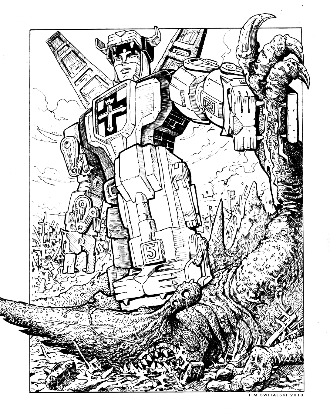 Coloring pages voltron