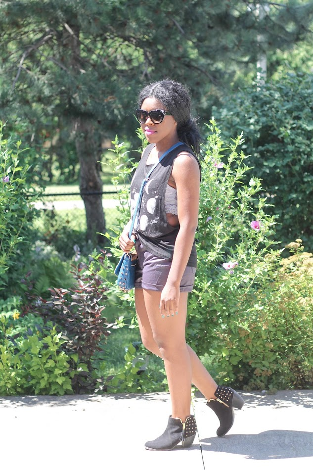 moon phases top, leather shorts, canadian fashion blogger