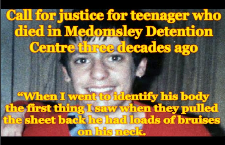 Call for justice for teenager who died in Medomsley Detention Centre three decades ago