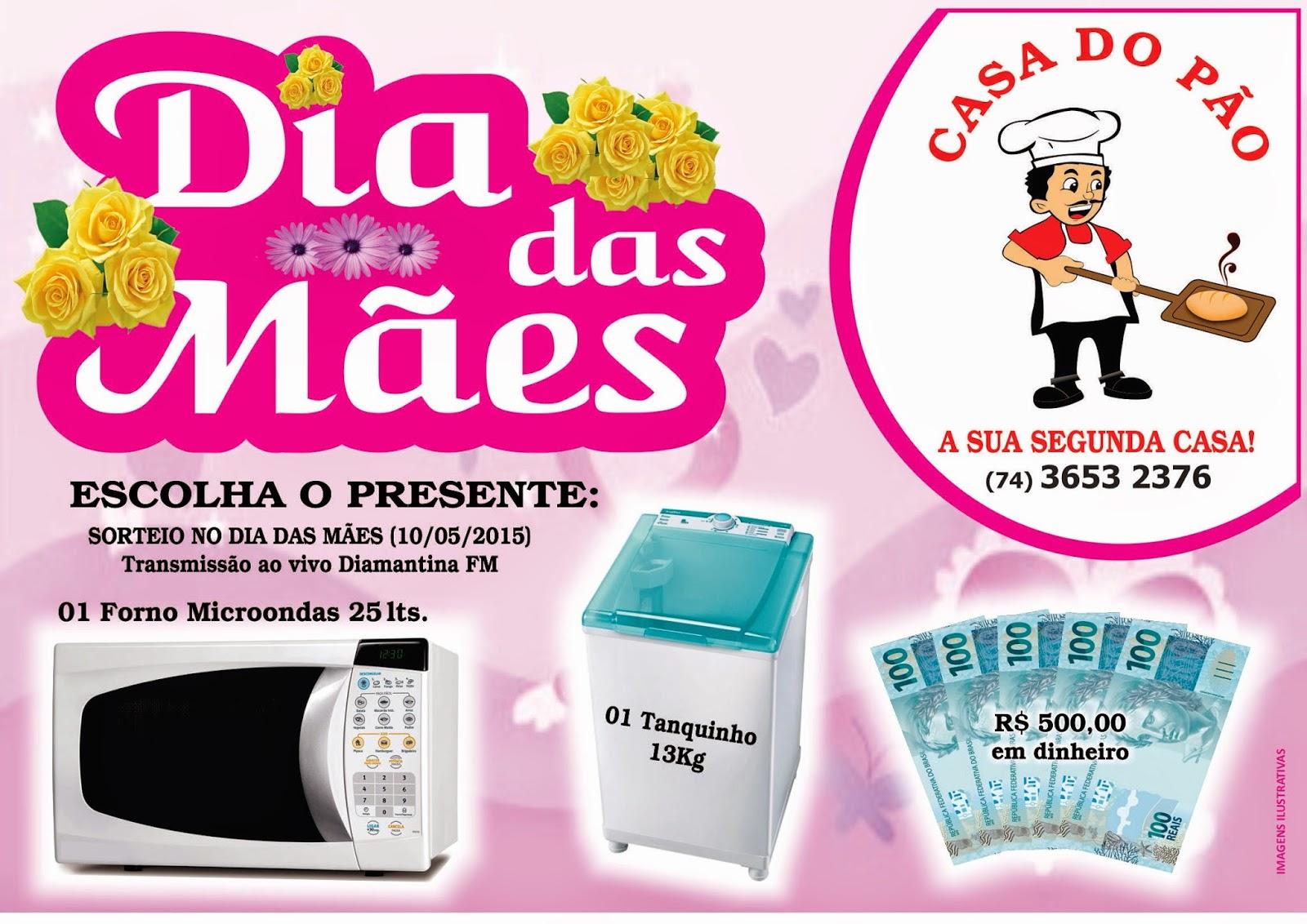 Promoção Dia das Mães da Casa do Pão