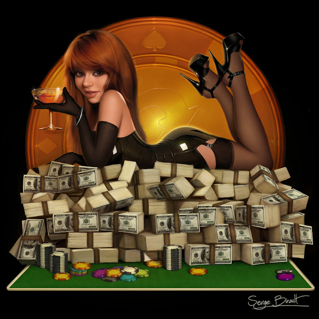 Poker Pin Up by Serge Birault (PapaNinja)