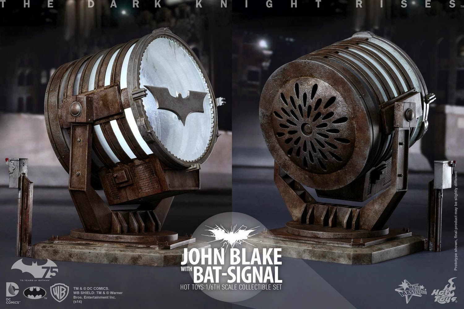 onesixthscalepictures hot toys dark knight rises john blake with bat signal latest product. Black Bedroom Furniture Sets. Home Design Ideas