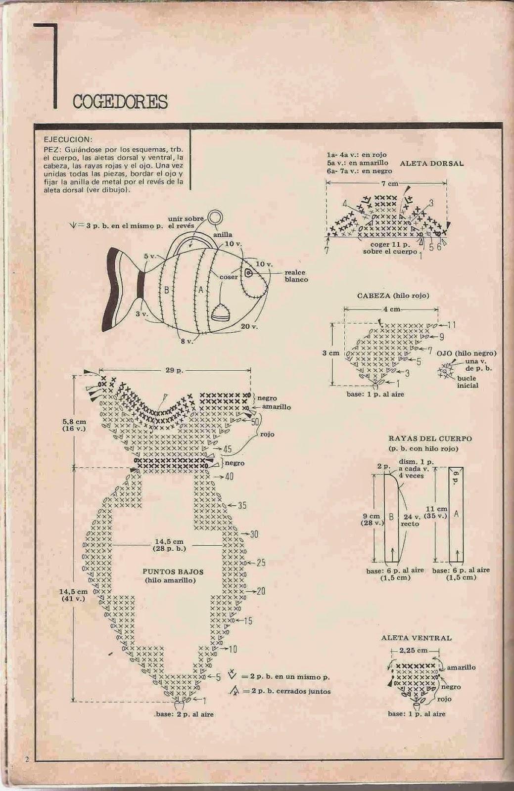#89 Divertidos Cogedores o Agarra Ollas a Crochet