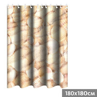 cortina baño conchas